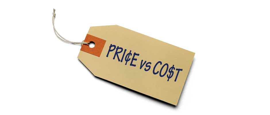 you need to know the difference between price and cost