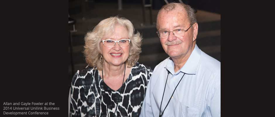 Allan and Gayle Fowler at the 2014 Business Development Conference