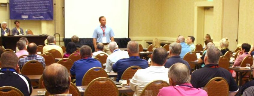 Alex Smith, Dickies, Addresses conference audience