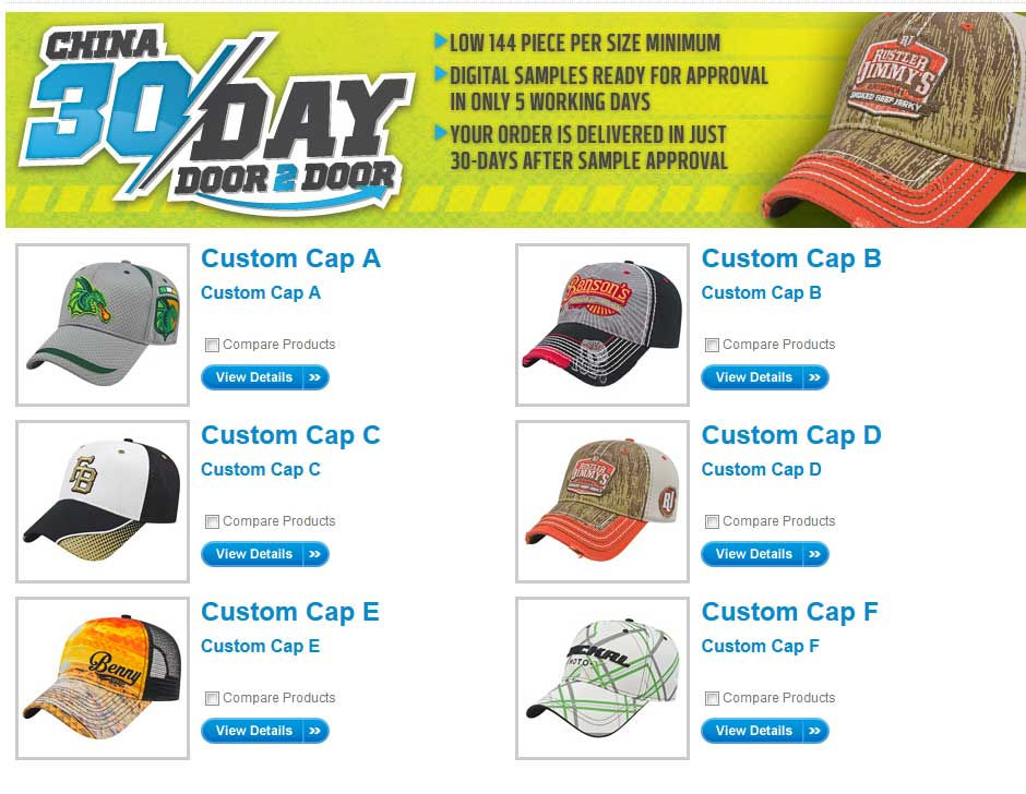 imported cap program