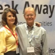 Allan and Member Dolores Galanti (Savannah Imagewear) at the CAAMP Expo.
