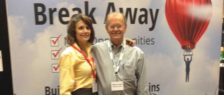 Allan and Member Dolores Galanti (Savannah Imagewear) at the CAAMP Expo.