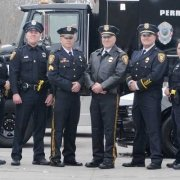 The Perrysburg police department in their award-winning uniforms