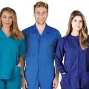 Natural Uniforms: Scrubs, coveralls, lab coats, footwear